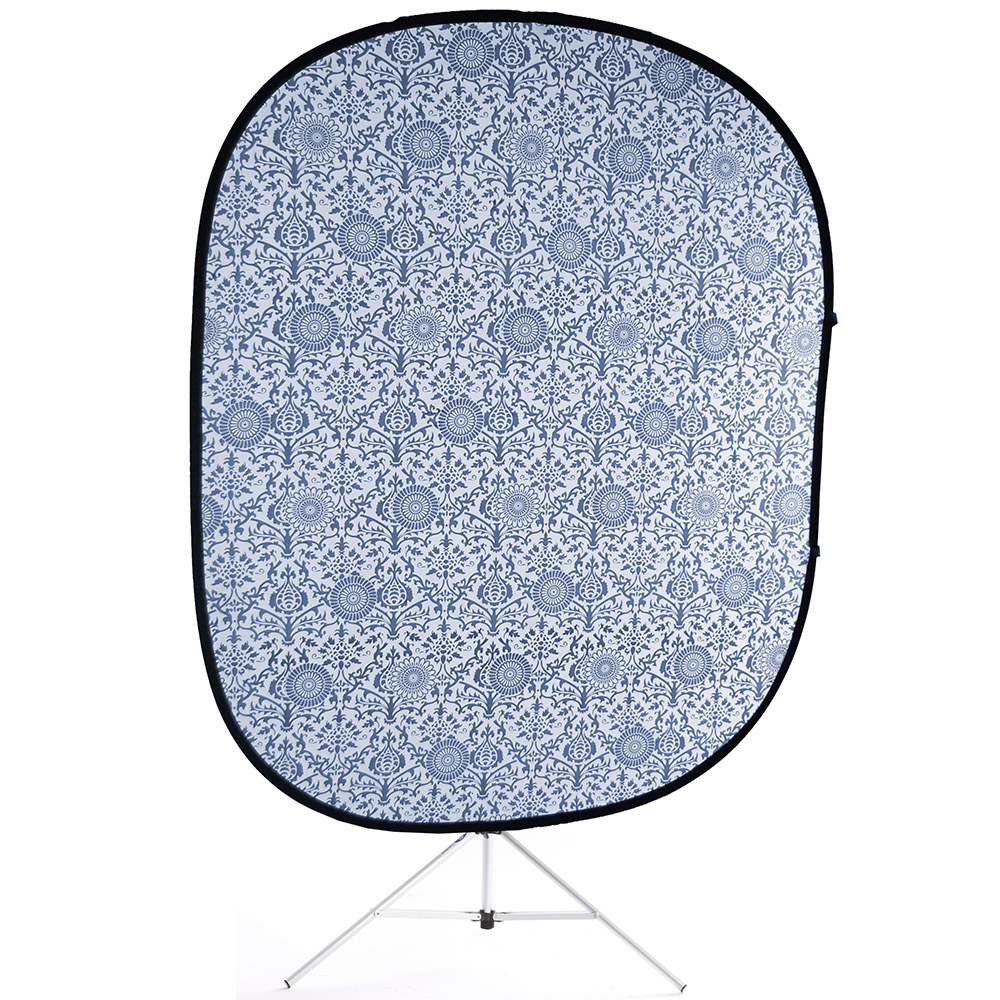 retro blue collapsible backdrop