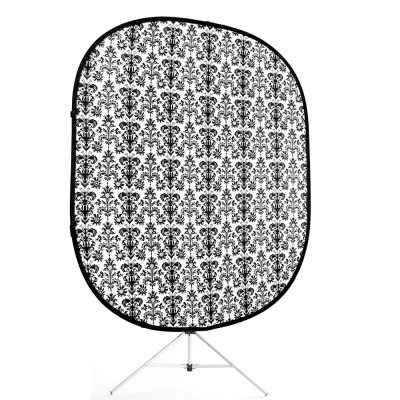retro black white collapsible backdrop