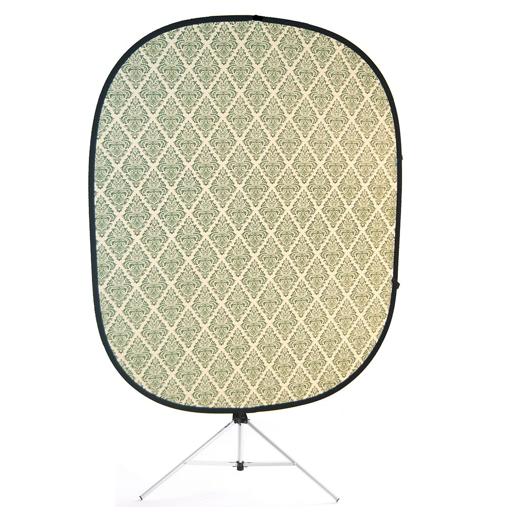 retro green collapsible backdrop