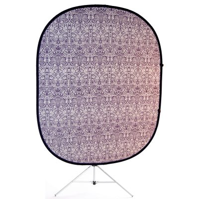 retro purple collapsible backdrop