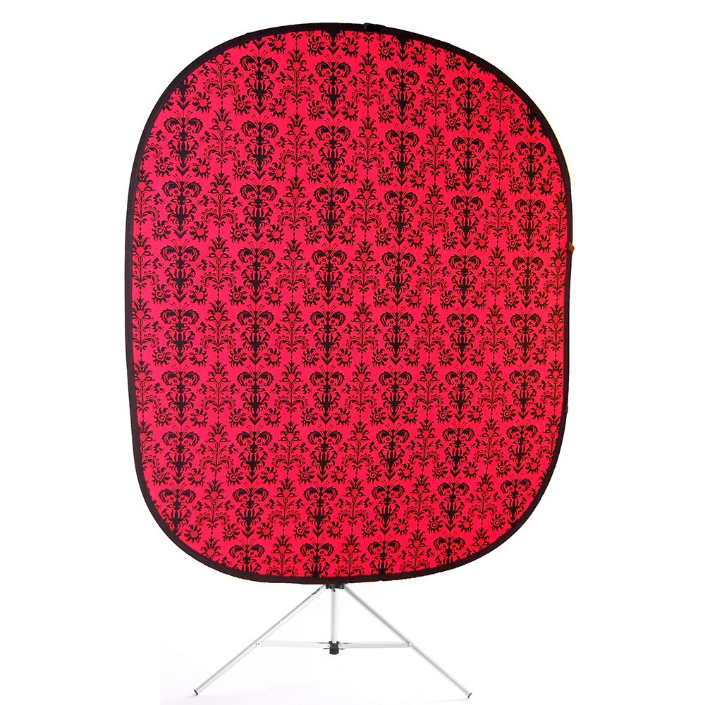 retro red collapsible backdrop