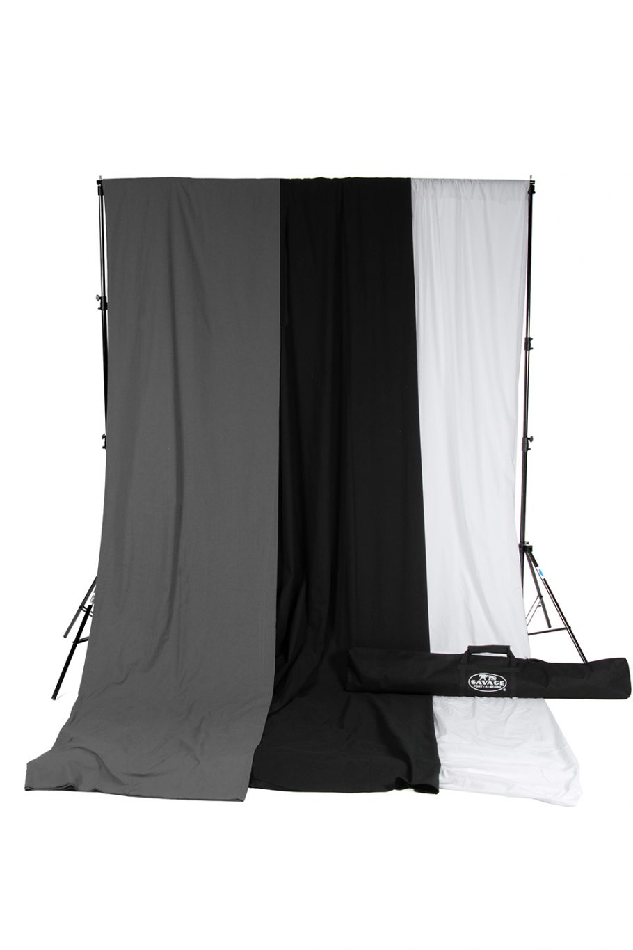 savage black white gray muslin backdrop kit
