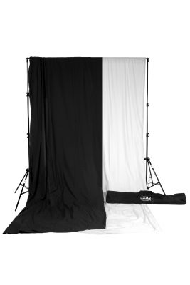 savage black white muslin backdrop kit