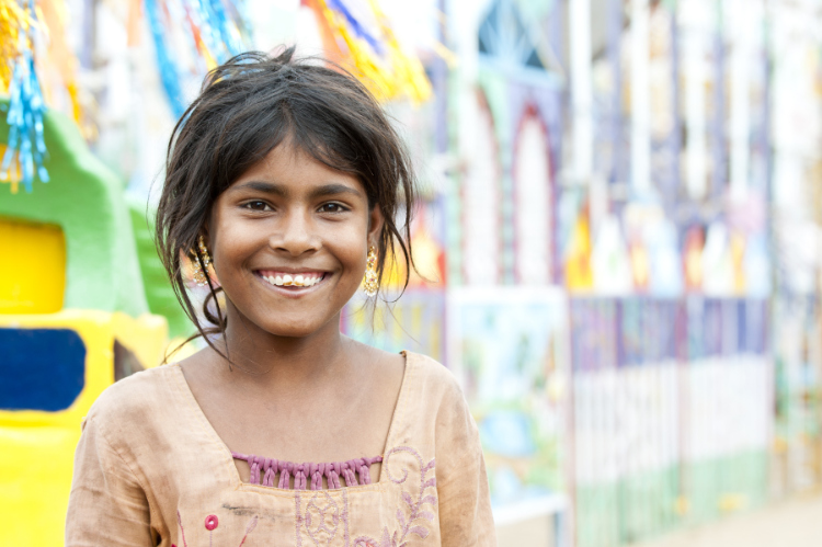 young smiling indian girl