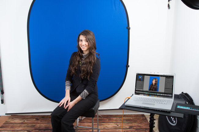 Blue Collapsible Backdrop