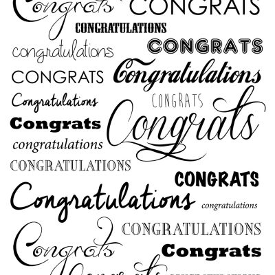 Congratulations! Printed Background Paper