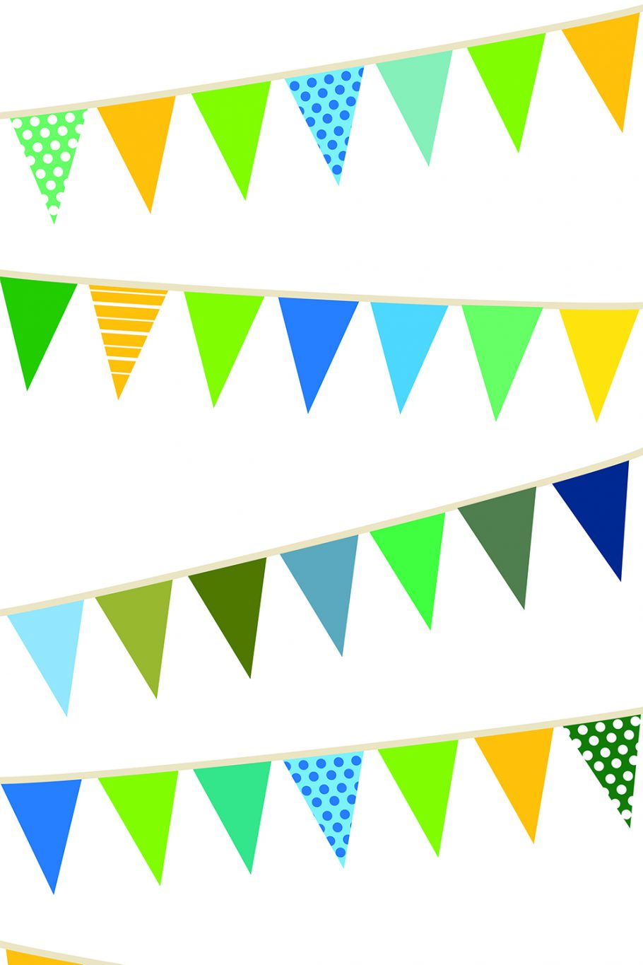 Savage Party Banners Printed Background