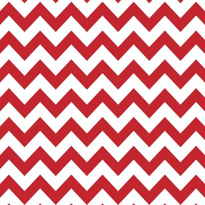 Red & White Chevron Printed Background Paper