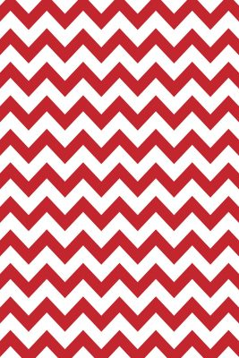 Savage Red and White Chevron Printed Background