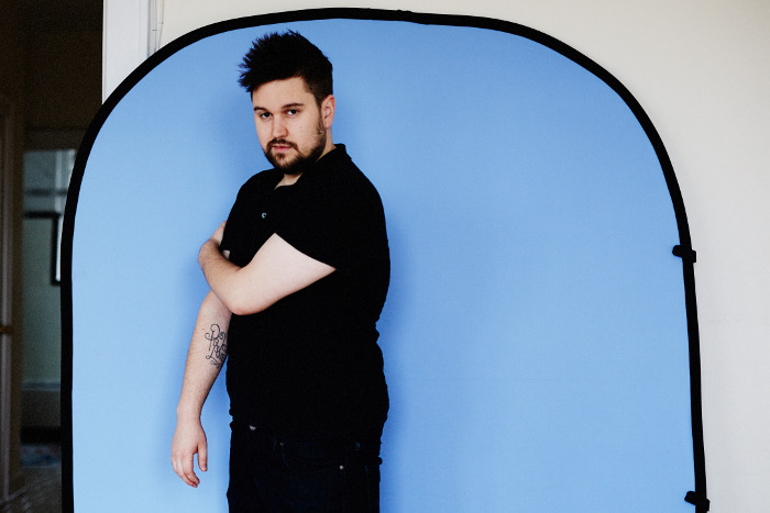 savage light blue collapsible backdrop by travis curry