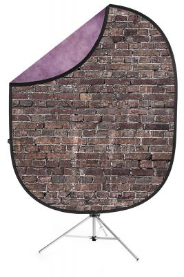 savage grunge brick purple collapsible backdrop