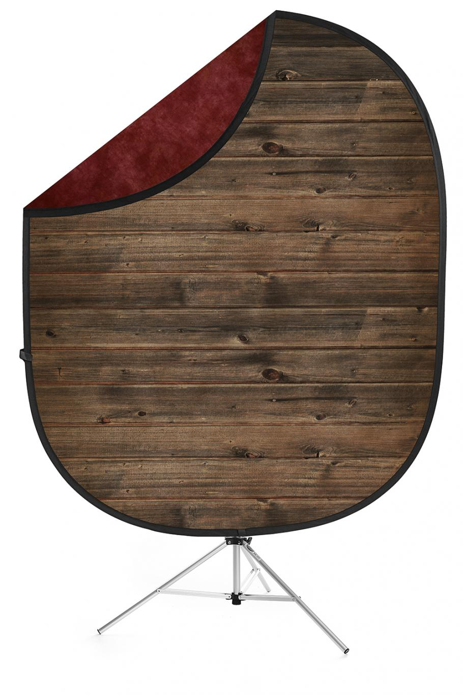 savage rustic planks red collapsible backdrop