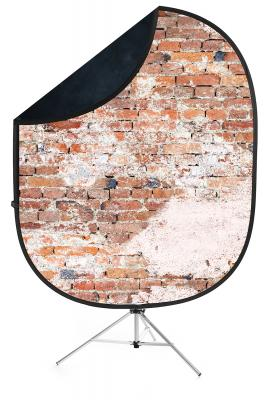 savage weathered brick black collapsible backdrop