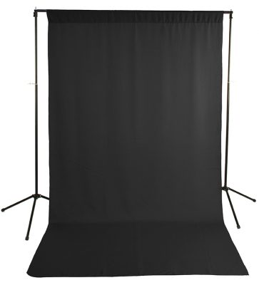 Black Wrinkle-Resistant Background with Optional Stand Image 1