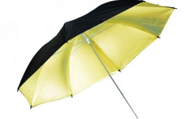 Black/Gold Umbrella Image 1