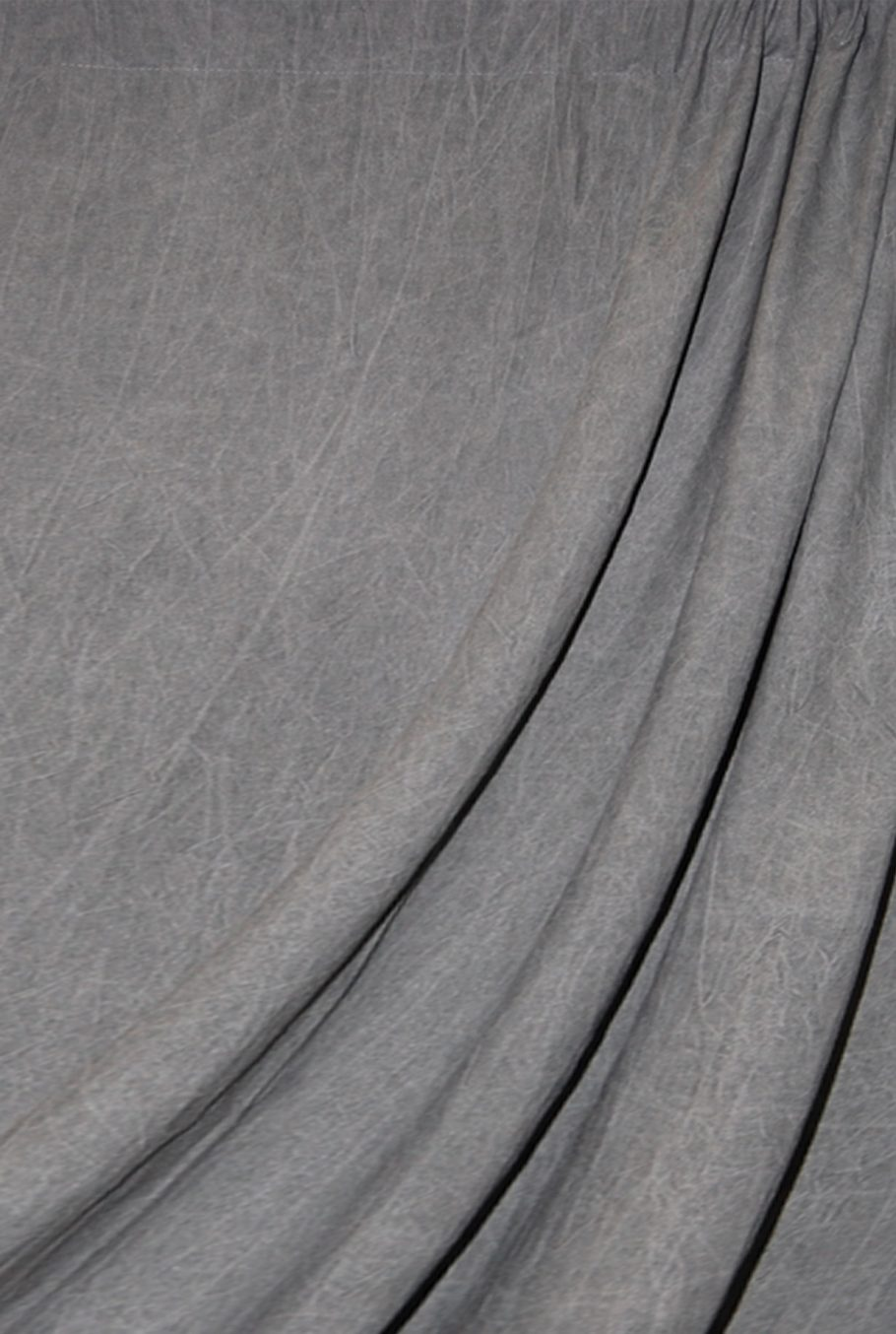 Dark Gray Washed Muslin Backdrop Image 1
