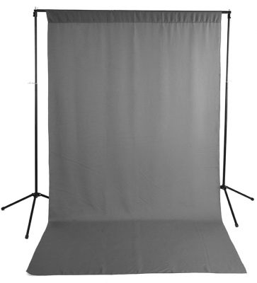 Gray Wrinkle-Resistant Background with Optional Stand Image 1