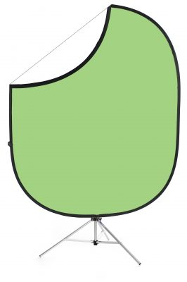Light Green/White Collapsible Backdrop Image 1