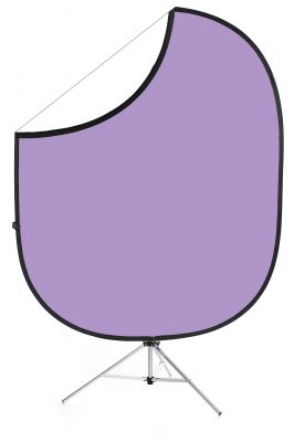 Light Purple/White Collapsible Backdrop Image 1
