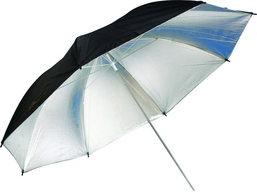 Silver/Black Umbrella Image 1