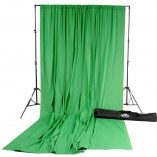 Chroma Green Solid Muslin Backdrop Image 2