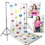 Floating Hearts Printed Background Paper Image 2