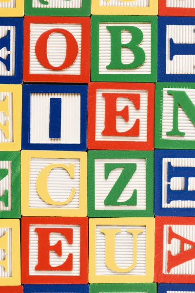 Alphabet Blocks Printed Vinyl Backdrop