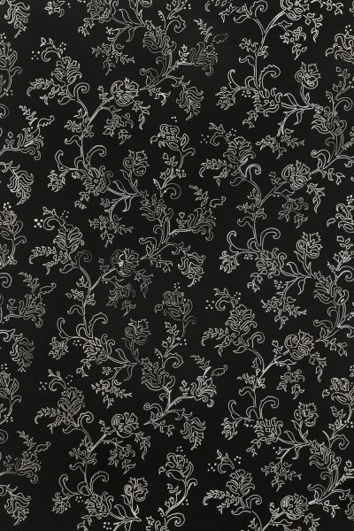 Black and White Floral Printed Vinyl Backdrop