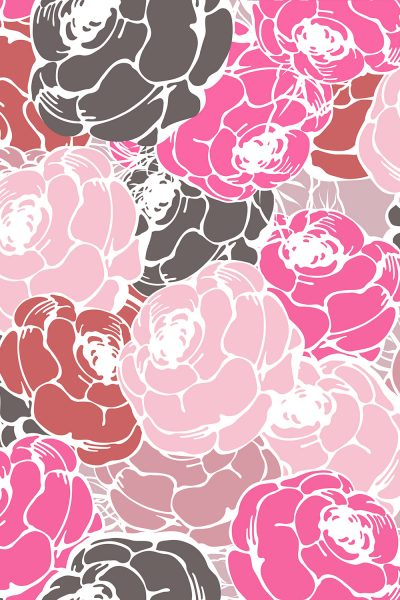 Blooming Flowers Printed Vinyl Backdrop