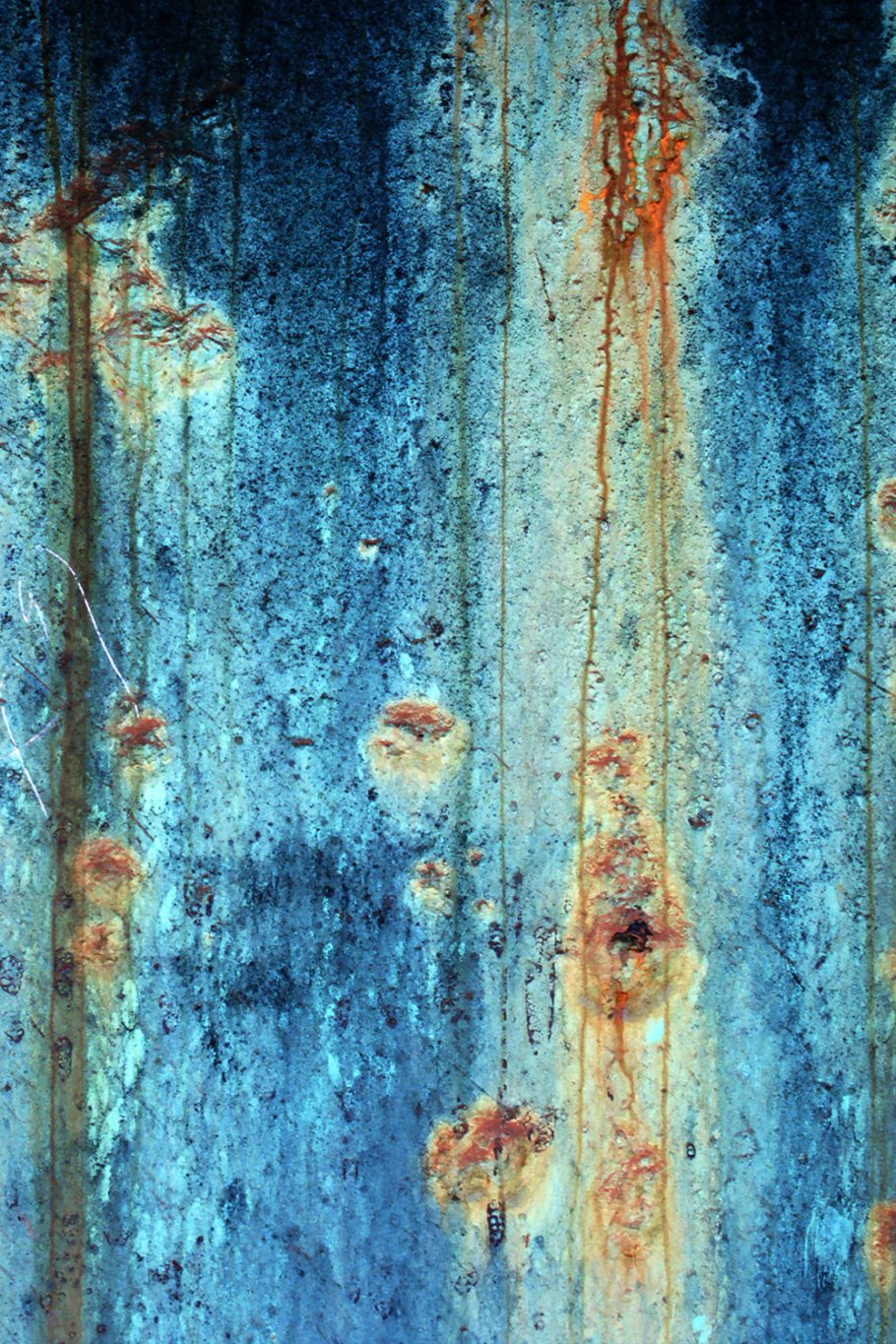Blue and Orange Rust Printed Vinyl Backdrop
