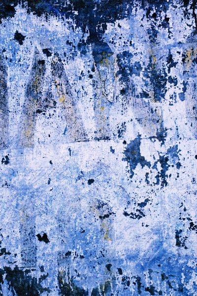 Blue Stone Wall Printed Vinyl Backdrop