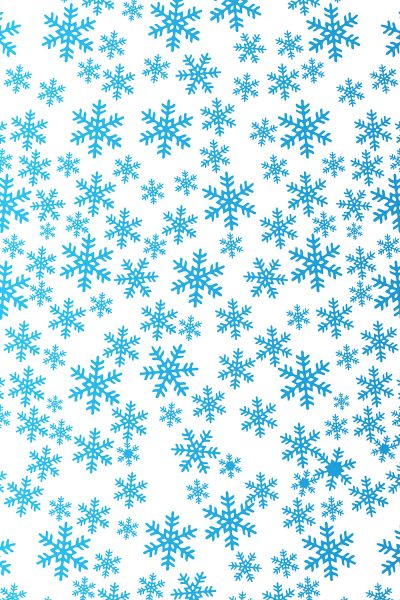 Blue Winter Snowflakes Printed Vinyl Backdrop
