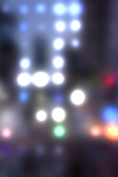 Blurred City Lights Printed Vinyl Backdrop