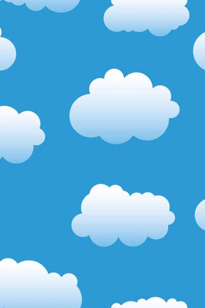 Cloudy Blue Sky Printed Vinyl Backdrop