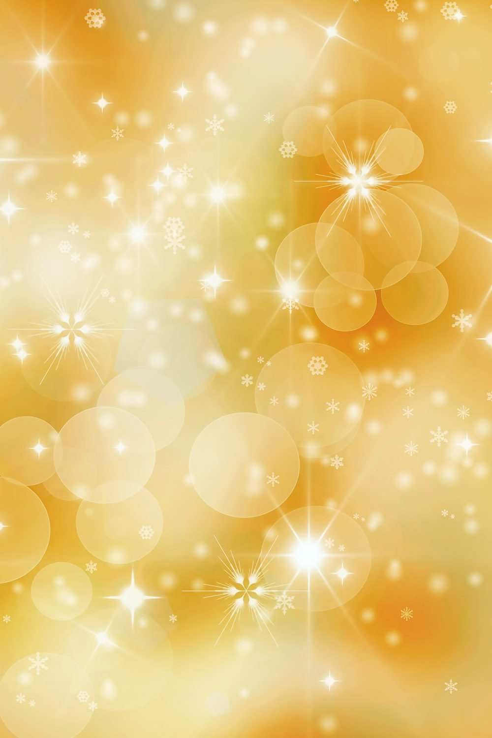 Gold Bokeh Printed Vinyl Backdrop