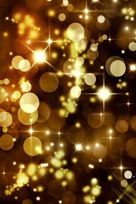 Golden Party Lights Printed Vinyl Backdrop