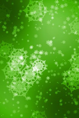 Green Snowflakes Printed Vinyl Backdrop