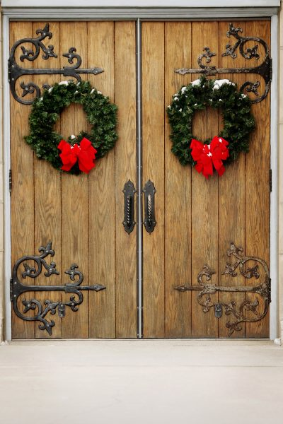 Holiday Doors Printed Vinyl Backdrop
