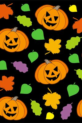 Laughing Jack-O-Lanterns Printed Vinyl Backdrop