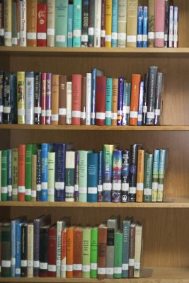 Library Bookcase Printed Vinyl Backdrop