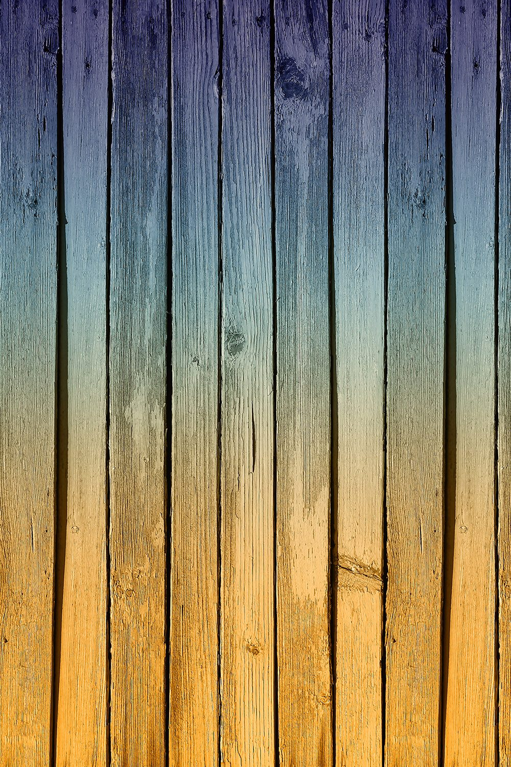 Ombre Painted Wood Printed Vinyl Backdrop