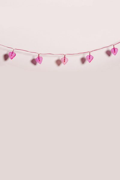 Pink Hearts Bunting Printed Vinyl Backdrop