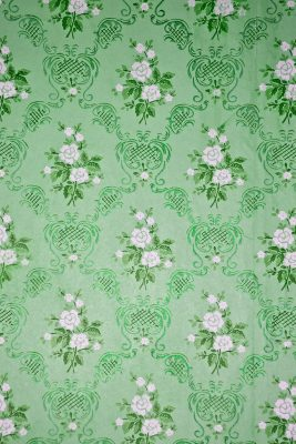 Retro Green Floral Printed Vinyl Backdrop