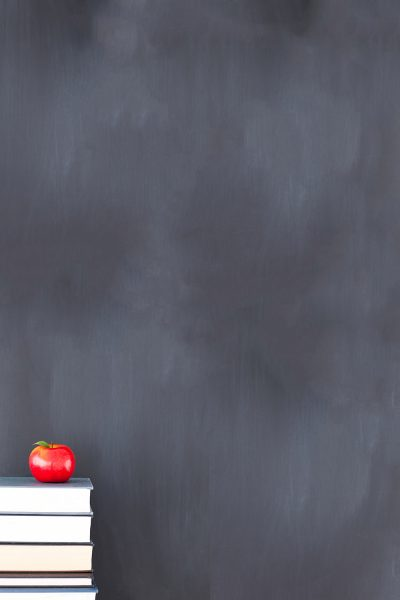 School Chalkboard Printed Vinyl Backdrop
