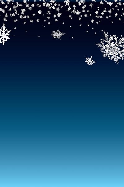 Snowflakes in the Sky Printed Vinyl Backdrop