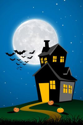 Spooky Halloween Night Printed Vinyl Backdrop
