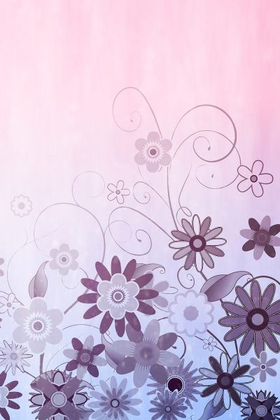 Sweet Pink Floral Printed Vinyl Backdrop