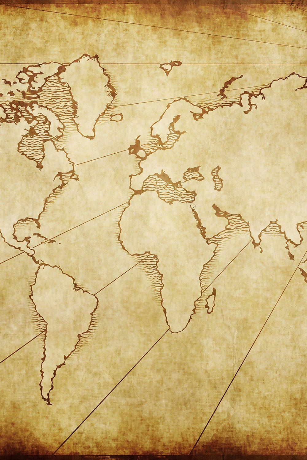 Vintage World Map Printed Vinyl Backdrop