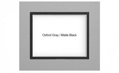 Oxford Gray Matte Black