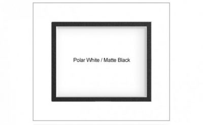 Polar White Matte Black